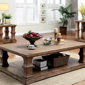 Arizona Wood Coffee Table by Beachcrest Home