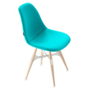 ZigZag Genuine Leather Upholstered Dining Chair