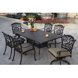 Calhoun 7 Piece Dining Set with Cushions