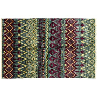 Savings One-of-a-Kind Ikat Hand-Knotted Multicolor Area Rug ByDarya Rugs