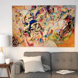 Composition VII by Wassily Kandinsky - Picture Frame Print on Canvas