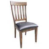 Lolington Solid Wood Slat Back Side Chair in Rustic Whiskey (Set of 2) by Loon Peak®