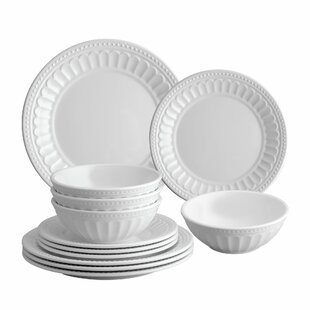 Remi 12 Piece Melamine Dinnerware Set, Service for 4