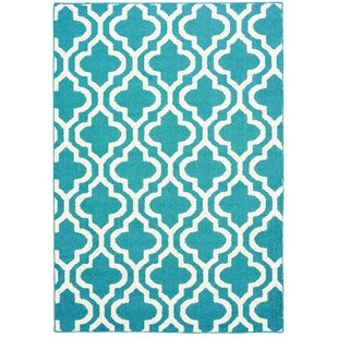 Compare prices Myra Blue/White Area Rug By Zipcode Design
