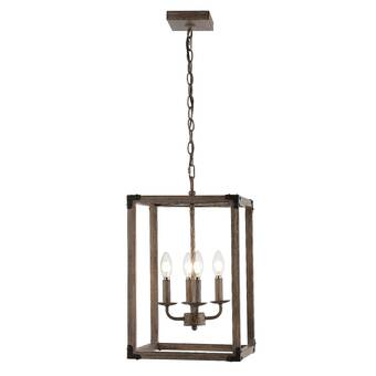 Gracie Oaks Darrell 4 Light Lantern Rectangle Pendant Wayfair