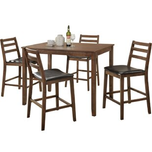 Sibley 5 Piece Counter Height Dining Set by Union Rustic