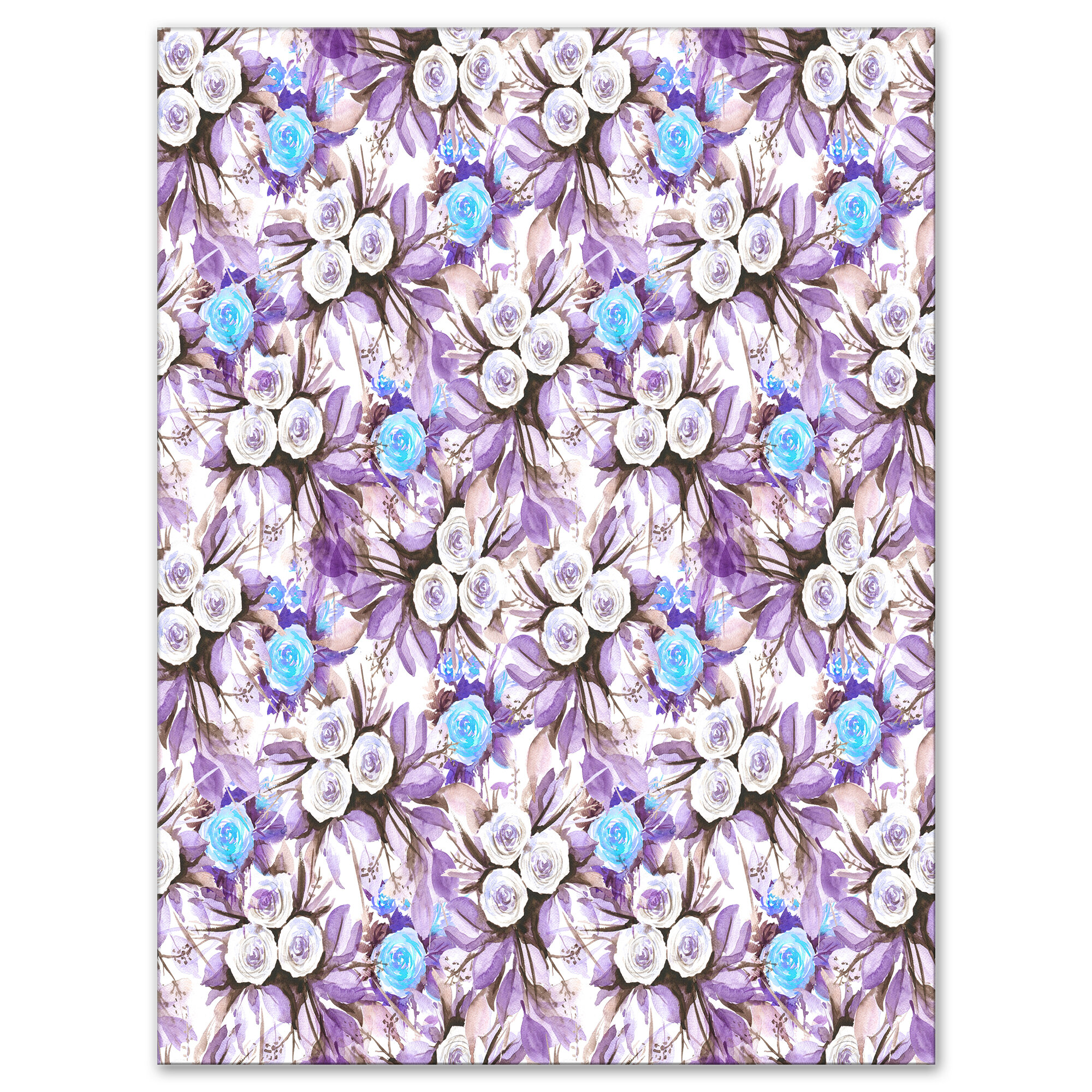 East Urban Home Floral Cascade Bouquet Royal Blue Purple And White