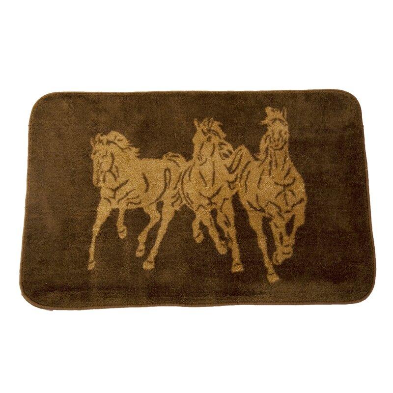 Loon Peak Spahn 3 Horse Chocolate Area Rug Reviews Wayfair