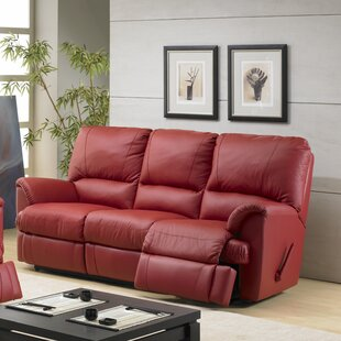 Check Prices Mylaine Leather Reclining Sofa by Relaxon Reviews (2019) & Buyer's Guide