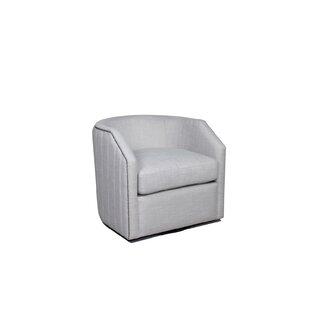 Remigio Swivel Barrel Chair by Latitude Run