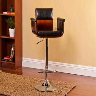 Ozbourn Modern Adjustable Height Swivel Bar Stool Wrought Studio