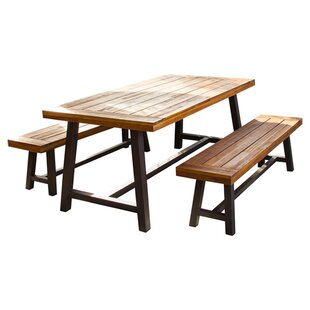 Charmant Bartlesville 3 Piece Dining Set