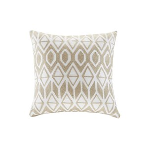 Anslee Embroidered Cotton Throw Pillow
