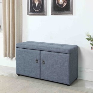 Best Reviews Argent Upholstered Shoe Storage Bench By Andover Mills