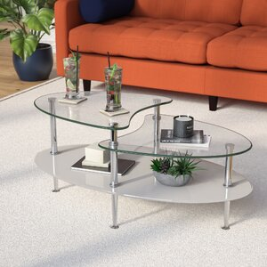 glass living room table. Cate Glass Oval Coffee Table Tables You ll Love  Wayfair