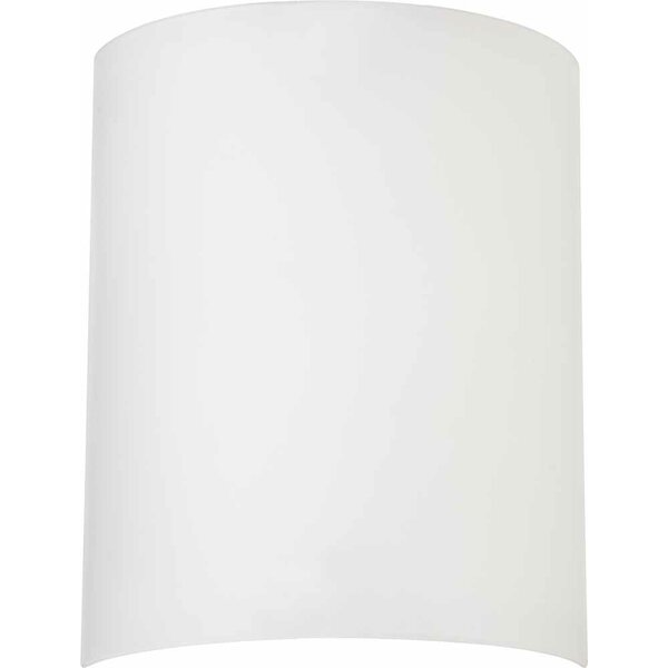 Volume Lighting 12 H Glass Drum Wall Sconce Shade Screw On In White Wayfair