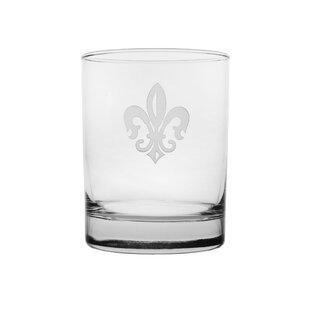 Grand Fleur De Lis 14 oz. Glass Cocktail Glasses (Set of 4)