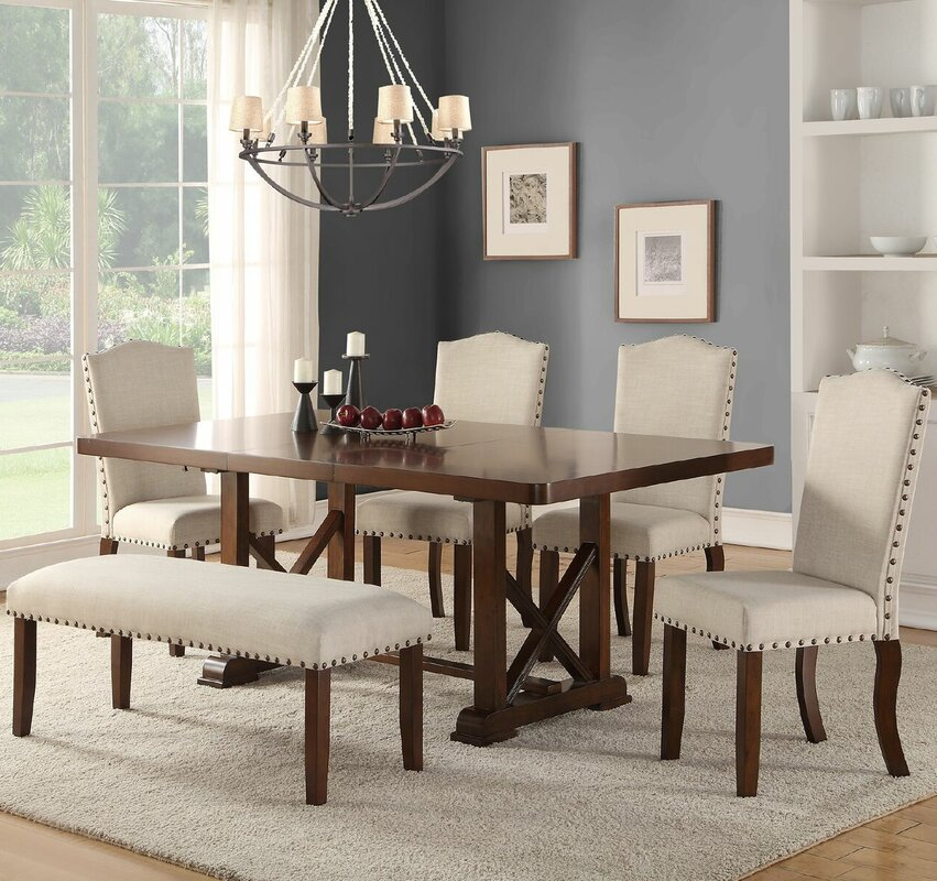 Canora Grey Chevaliers 6 Piece Dining Set & Reviews | Wayfair