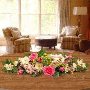 Floral swag youll love wayfair rose and hydrangea swag mightylinksfo
