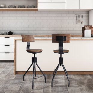 Arago Metal Adjustable Height Bar Stool - set of 4 (Set of 4)