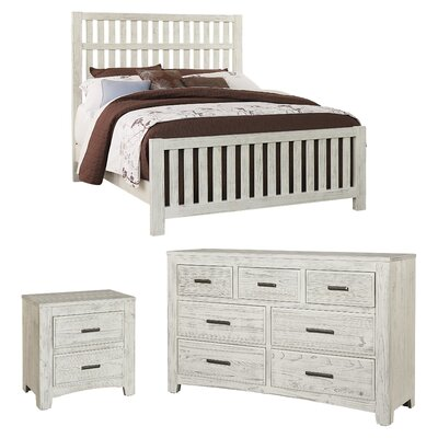 Hernandez 7 Drawer Dresser with Mirror Color: Weathered White by Alcott Hill