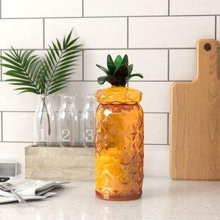 Pineapple on Yellow Background Round Rubber Non-Slip Jar Gripper Lid Opener