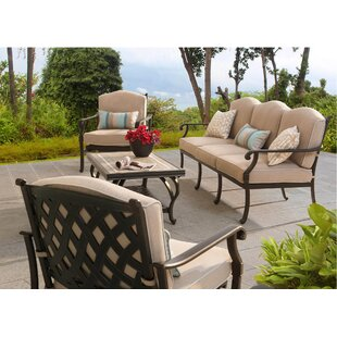 Bar Harbor 4 Piece Deep Seating Group with Cushion