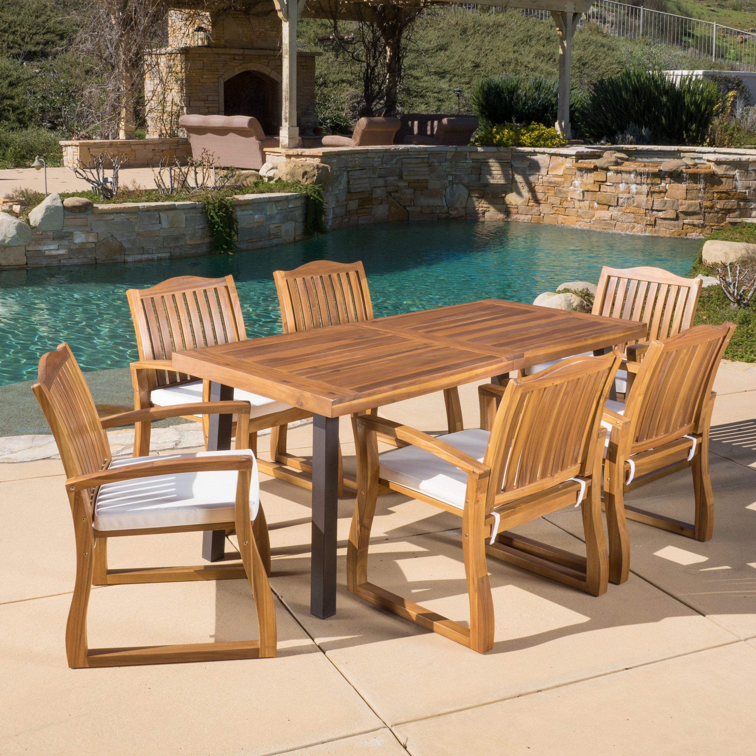 Annabel 7 Piece Dining Set With Cushions Reviews Joss Main