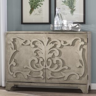 Andréa Ornate Overlay 2 Door Bar Cabinet by One Allium Way