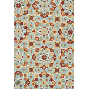 Francesca Hand Woven Turquoise/Gold Area Rug