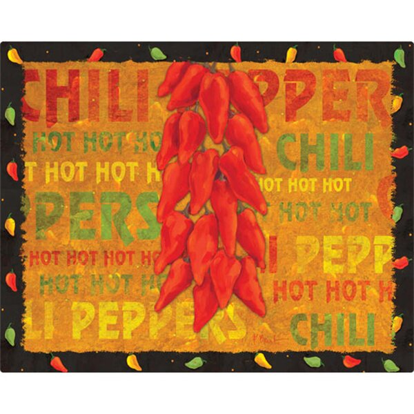 CHILLIES Tempered Glass Chopping Board