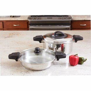 Precise Heat 2 Piece Low Pressure Cooker Set
