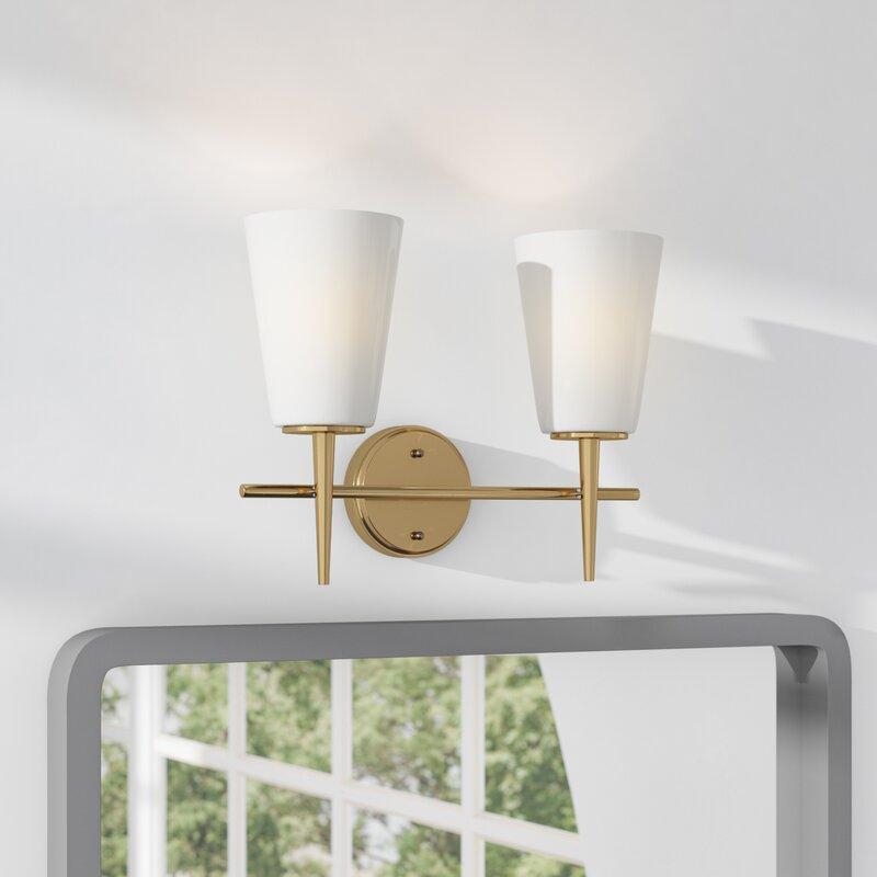 Langley Street Ganador 2-Light Vanity Light & Reviews   Wayfair