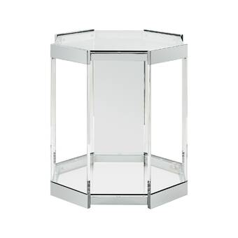 Mercury Row Richlands Glass Top Pedestal End Table Reviews Wayfair