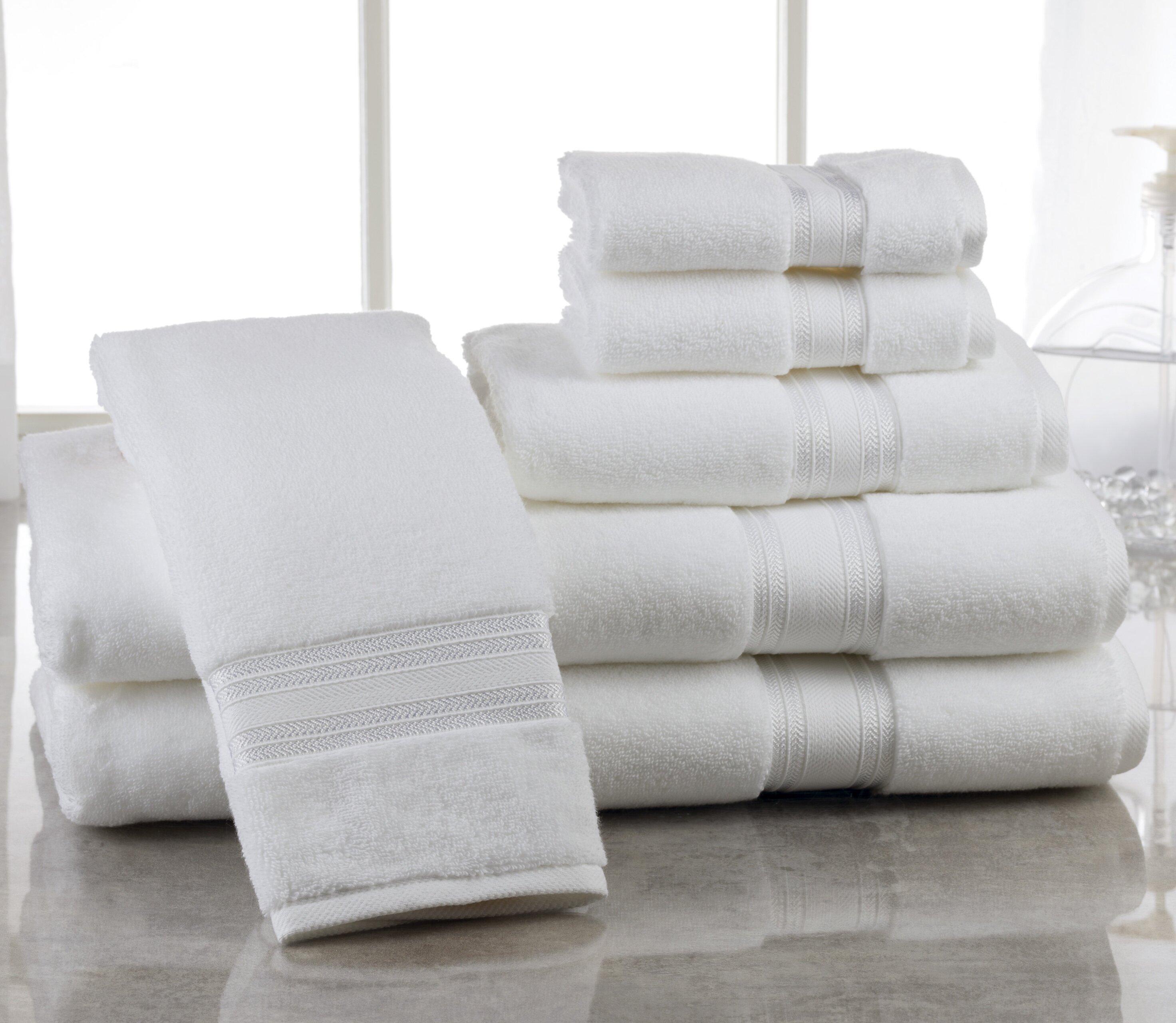 Eider Ivory Brecken Zero Twist 6 Piece 100 Cotton Towel Set Reviews Wayfair