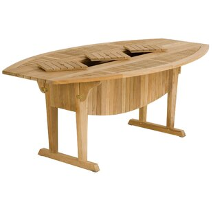 Teak Altaro Oval Drop Leaf Table