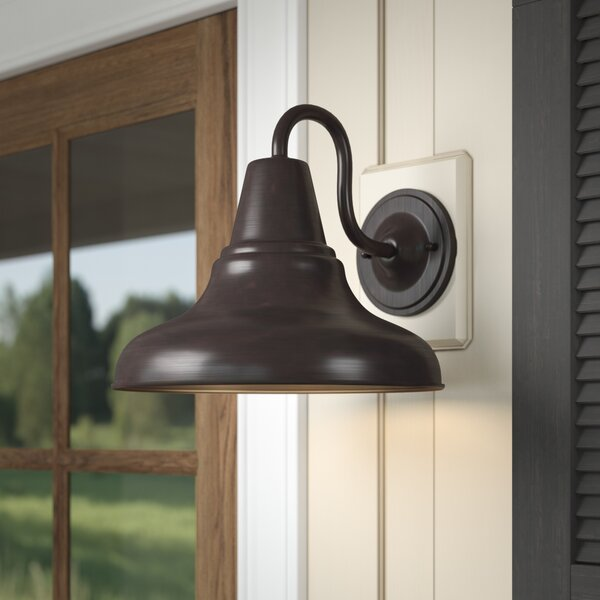 Union Rustic Hailey Outdoor Barn Light Reviews Wayfair