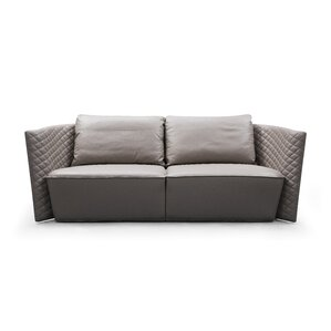 Francis Leather Sofa by Orren Ellis