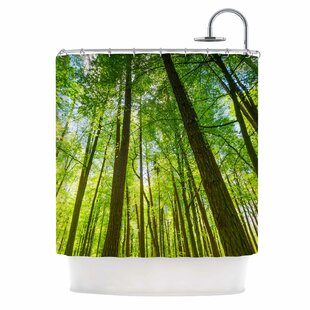 'Green Tree Sky' Photography Single Shower Curtain
