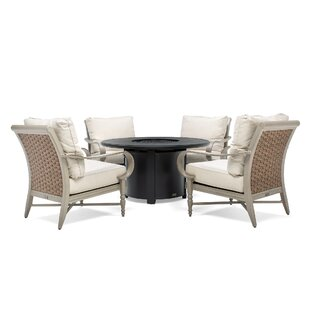 Beckwith 5 Piece Dining Set with Cushions