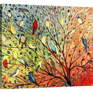 Twenty Seven Birds' by Jennifer Lommers Framed Graphic Art Print on Canvas