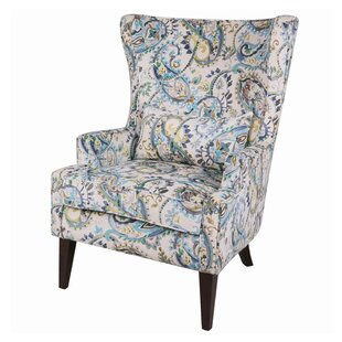 Exceptionnel Godfrey Paisley Wingback Chair