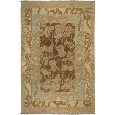 Mathilda Hand Knotted Wool Mocha Area Rug Darby Home Co Rug Size Rectangle 9 X 12