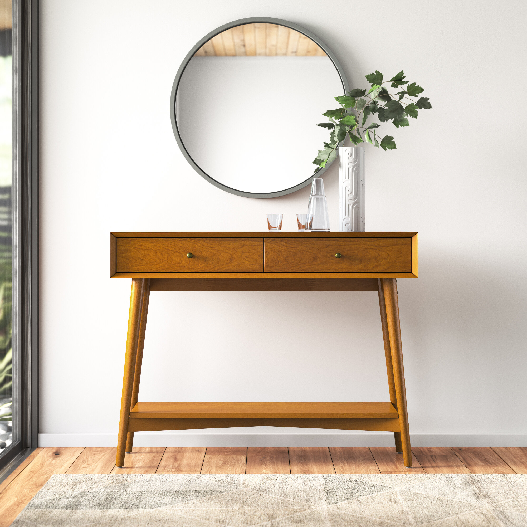 Modern Brown Drawers Console Tables Allmodern