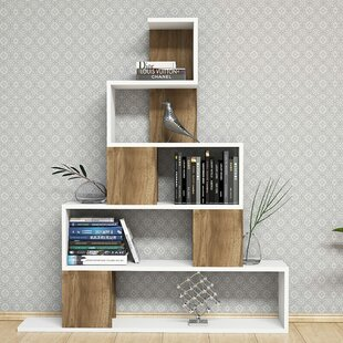 Gaudreau Modern Geometric Bookcase by Ebern Designs