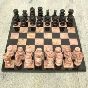 Strength of Stone 'Glorious Battle' Chess Set by Novica
