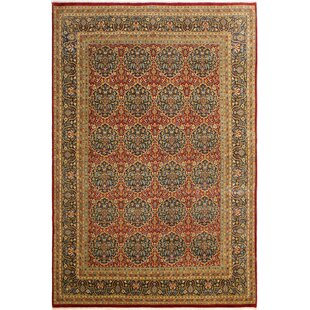 Purchase One-of-a-Kind Abagail Hand-Knotted 9'2 x 11'11 Wool Beige/Red/Black Area Rug By Isabelline