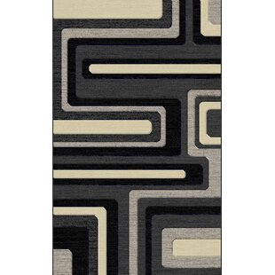 Affordable Milani Hand-Tufted Gray/Black/Cream Area Rug By Orren Ellis