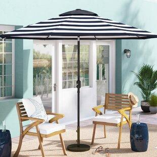 Jaida Stripe Crank and Tilt Market Umbrella