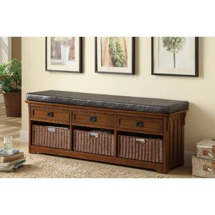 Retherford Multi-Functional Wood Storage Bench by Canora Grey
